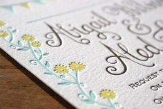 Whimsical letterpress wedding invites that feature bunting, fun florals, and a double-decker bus! Letterpress Wedding Stationery, Letterpress Printing, Wedding Stationery Inspiration, Graphic Design Typography, Photoshoot Inspiration, Whimsical, Lettering, Color Inspiration, Invites