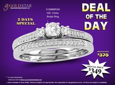 Catch best deal on Diamond Bridal Ring by Golstar Independent LLC.