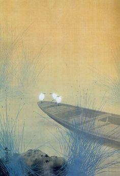 Herons by Hishida Shunso