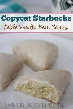 Copycat Starbucks Vanilla Bean Petite Scones are SO good!!!