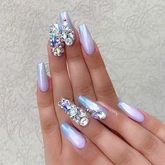 Cool Designs for Your Nails Coffin Shape ★ See more: https://naildesignsjournal.com/nails-coffin-shape-designs/ #nails