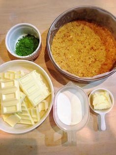 オーブン不要*簡単*濃厚*抹茶の生チョコタルト - 暮らしニスタ Cantaloupe, Dairy, Yummy Food, Cheese, Fruit, Pies, Delicious Food