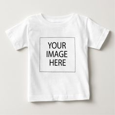 Templates paste or replace your Photo Image Text Baby T-Shirt