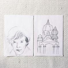 First sketches of my new painting: https://youtu.be/aA8gG7fTXaU . . . #sherlock #sherlockholmes #bbcsherlock #mindpalace #memorypalace #benedictcumberbatch #cumberbatch #gedächtsnispalast #wip #workinprogress #sketch #skizze #doodle #concept #artwork #art #artist #artwork #handdrawn #instaartist
