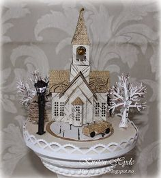 Entry for the Kaisercraft final DT audition 2015-2016. Miniature Christmas scene with the Home for Christmas collection. Made by Kirsten Hyde.