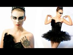 DIY BLACK SWAN HALLOWEEN COSTUME - Get your #corset and #skirt from LoversPackage.com and save yourself some time! Then make the costume your own with these ideas. :)