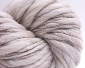 Pure Thickest and Thinnest Chunky HandSpun Undyed by SpinSpanSpun