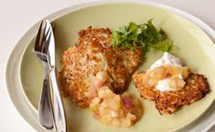 Sylvie's Cauliflower Pancakes Epicure Recipes, Veggie Recipes, New Recipes, Favorite Recipes, Healthy Recipes, Nutrition, Everyday Food, Yummy Eats, Healthy Eating