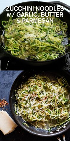 Zucchini Noodle Recipes, Salmon Recipes, Chard Recipes, Roasted Zucchini Noodles, Making Zucchini Noodles, Low Carb Zucchini Recipes, Leek Recipes, Garlic Recipes, Vegetarian Recipes