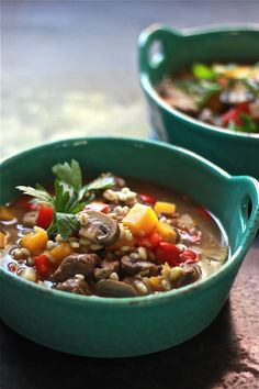 Try this flavorful & delicious beef and barley soup. It's a heart warming recipe worthy of any repertoire. Slow Cooker Stew Recipes, Meat Recipes, Barley Recipes, Recipies, Dinner Recipes, Beef Barley Soup, Barley Food, Quick Healthy Snacks, Healthy Soups