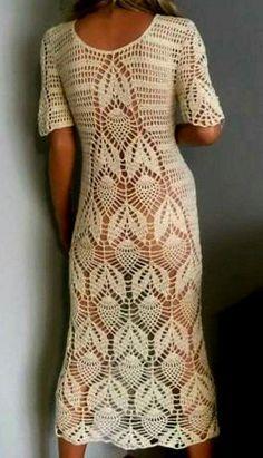 Crochet Beach Dress, Crochet Summer Tops, Crochet Tote, Filet Crochet, Diy Crochet, Crochet Stitches, Crochet Baby Clothes, Linen Dresses, Beautiful Crochet