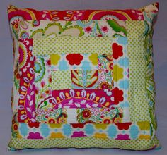 Strip Quilted pillow cover - Dena Designs