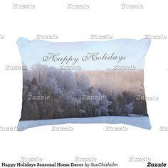 Happy Holidays Seasonal Home Decor Decorative Pillow