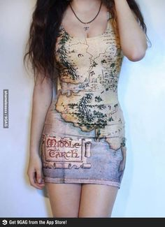 Middle earth map dress map costume lord of the rings dress map of the middle earth dress gumiabroncs Choice Image