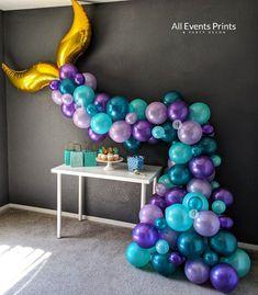 Mermaid Balloons, Purple Balloons, Mylar Balloons, Mermaid Party Decorations, Balloon Decorations, Birthday Decorations, Balloon Ideas, Mermaid Baby Showers, Baby Mermaid