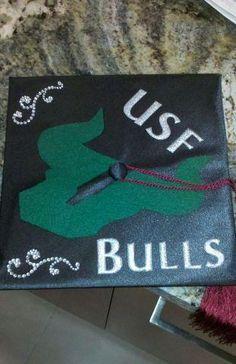 #USF Bulls mortar board.