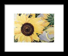 The Yellow  Framed Print By Saifon Anaya