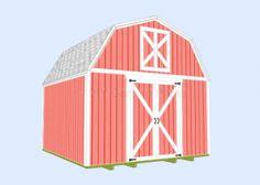 Gambrel-Barn Shed Plans
