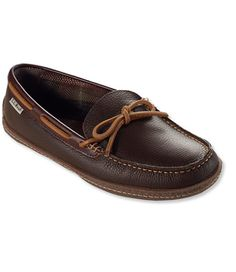 Men's Handsewn Slippers, Flannel-Lined  Trevor Size: 13