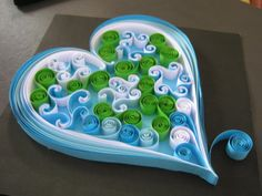 Blue quilling