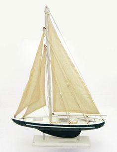 "19"" Wood Pond Sailboats | Nautical & Sailing Theme Party Decorations"