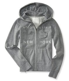 Aeropostale Aero NY Women Long Sleeve Full Zip Hoodie sweat Shirt 7493 * You can find more details by visiting the image link.