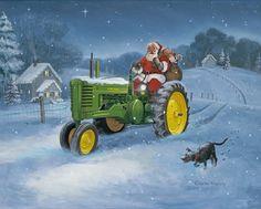 John Deere Santa (Charles Freitag artwork)