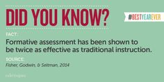 So many benefits to formative assessments!