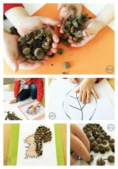 Acorn Silhouette Estimation Activity and Craft for kids. So Fun!