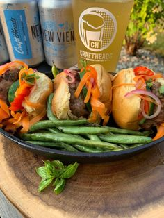 Craftheads Brewing Company New Vienna with Spicy Pork Sliders. 5 Spice Powder, Chinese 5 Spice, Asian Slaw, Pork Sliders, Slider Buns, Essex County, Complete Recipe, Fish Sauce, Brewing Company