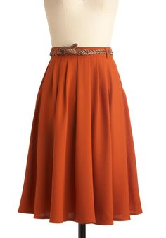 Breathtaking Tiger Lilies Skirt - I love the idea of an orange or rust skirt, especially a full one.