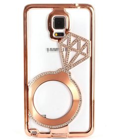 Galaxy S6, S6 Edge, Note 4 - Shimmering Bling Ring Frame Case in Assorted Colors