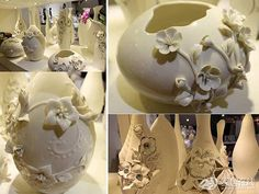 Porcelain Slip Casting | Ceramic jewelry process | Fashion Ceramic Jewelry
