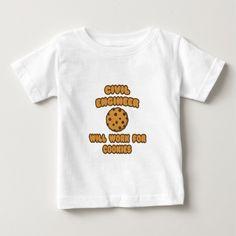 Civil Engineer   Will Work for Cookies T Shirt, Hoodie Sweatshirt