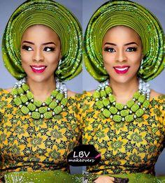 @lbvmakeovers did this Darling bride: @jaleejunaidu Asooke: @houseofasooke  Henna: @amaryadotcom #BellaNaijaWeddings