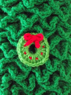 My crochet wreath Christmas tree decoration