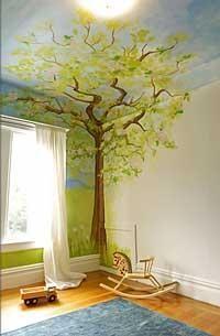 Corner tree mural (Alyssa Morgan Designs)