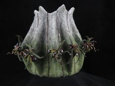 Burr- a felt vessel by Jill Johnson