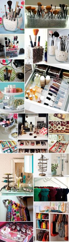 Great ideas for organizing bedrooms and closets.