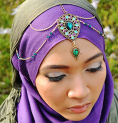 Moluccan - Product - Purple Jewel Headpiece