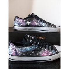 Custom Hand-Painted Galaxy Shoes [Made to order] Blue/Pink/Purple (72 AUD) ❤ liked on Polyvore featuring shoes