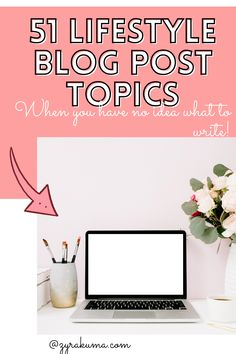 Do you have a writer's block at this very moment? If you said yes, this list will give you 51 lifestyle topic ideas to create your next blog post in no time! If you're a beginner blogger or pro blogger, you should keep this list pinned or bookmarked! | blog post ideas | #lifestyleblog | blogging for beginners | #blogger | #blogging Pro Blogger, Writer's Block, Blog Topics, Blogging For Beginners, Self Development, Self Improvement, Business Tips, Lifestyle Blog, Create Yourself