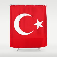 The National flag of Turkey - Authentic version Shower Curtain by LonestarDesigns2020 - Flags Designs + - $68.00