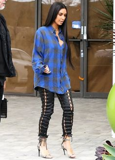 Casual doesn't come cheap! While Kim Kardashian has been going for a more laid-back look as of late, finishing ensembles with plaid button-ups and sweats, there's nothing relaxed about her latest look's price tag.
