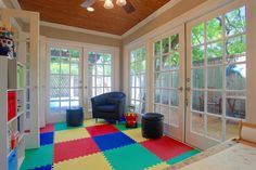 Flooring for sun room? Make sun room a playroom?