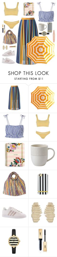 """""""Senza titolo #6944"""" by waikiki24 ❤ liked on Polyvore featuring MDS Stripes, Solid & Striped, Vera Bradley, Royal Doulton, EAST, adidas, Michelle Campbell Jewelry, Kate Spade, Yves Saint Laurent and Maybelline"""