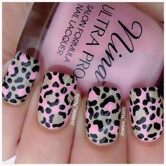 Steps for Creating Leopard Nails Designs: Cute Pink Leopard Nail Tutorial ~ fixstik.com Nail Designs Inspiration