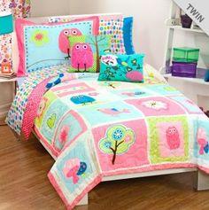 Owl Girl Bedding Set - Twin