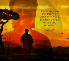 Come to know the nature of your mind, in which there is no self and no other... - Huang Po -
