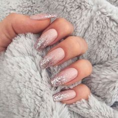 In search for some nail designs and some ideas for your nails? Listed here is our listing of must-try coffin acrylic nails for modern women. Blush Nails, Glitter Nails, Shellac Nails, Pink Nails, Nail Swag, Easy Nails, Simple Nails, French Nails, Hot Nails